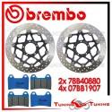 Dischi E Pastiglie Freno Anteriore Brembo DUCATI 848 2008 2009 2010 78B40880 + 07BB1907