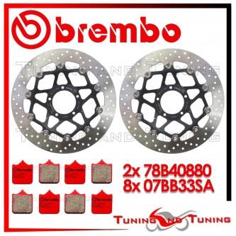 Dischi E Pastiglie Freno Anteriore Brembo DUCATI 749 R 2003 2004 78B40880 + 07BB33SA