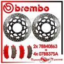 Dischi E Pastiglie Freno Anteriore Brembo SUZUKI GSX-R 1000 2012 2013 2014 78B40863 + 07BB37SA