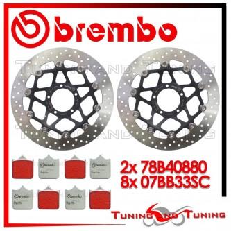 Dischi E Pastiglie Freno Anteriore Brembo DUCATI 999 S 2003 2004 78B40880 + 07BB33SC