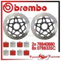 Dischi E Pastiglie Freno Anteriore Brembo DUCATI 999 XEROX 2005 2006 2007 78B40880 + 07BB33SC