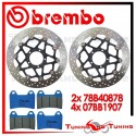 Dischi E Pastiglie Freno Anteriore Brembo DUCATI MONSTER 796 ABS 2010 2011 78B40878 + 07BB1907