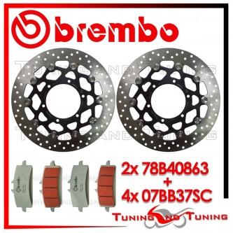 Dischi E Pastiglie Freno Anteriore Brembo SUZUKI GSX-R 750 2011 2012 2013 78B40863 + 07BB37SC