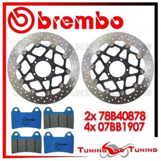 Dischi E Pastiglie Freno Anteriore Brembo DUCATI MULTISTRADA 1200 ABS 2010 2011 78B40878 + 07BB1907