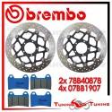 Dischi E Pastiglie Freno Anteriore Brembo DUCATI MULTISTRADA S 1200 PIKES PEAK 2013 78B40878 + 07BB1907