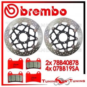 Dischi E Pastiglie Freno Anteriore Brembo DUCATI MONSTER EVO 1100 ABS 2011 2012 78B40878 + 07BB19SA