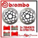 Dischi E Pastiglie Freno Anteriore Brembo DUCATI MULTISTRADA S 1200 PIKES PEAK 2013 78B40878 + 07BB19SA