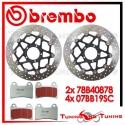Dischi E Pastiglie Freno Anteriore Brembo DUCATI MONSTER EVO 1100 ABS 2011 2012 78B40878 + 07BB19SC