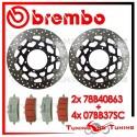 Dischi E Pastiglie Freno Anteriore Brembo SUZUKI GSX-R 1000 2012 2013 2014 78B40863 + 07BB37SC