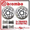 Dischi E Pastiglie Freno Anteriore Brembo DUCATI MULTISTRADA S 1200 TOURING 2013 2014 78B40878 + 07BB19RC