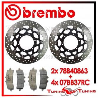 Dischi E Pastiglie Freno Anteriore Brembo SUZUKI GSX-R 750 2011 2012 2013 78B40863 + 07BB37RC