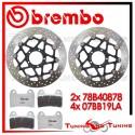 Dischi E Pastiglie Freno Anteriore Brembo DUCATI MULTISTRADA S 1200 TOURING 2013 2014 78B40878 + 07BB19LA