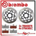 Dischi E Pastiglie Freno Anteriore Brembo DUCATI HYPERMOTARD SP 820 2013 78B40878 + 07BB38SC