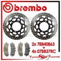 Dischi E Pastiglie Freno Anteriore Brembo SUZUKI GSX-R 1000 2012 2013 78B40863 + 07BB37RC