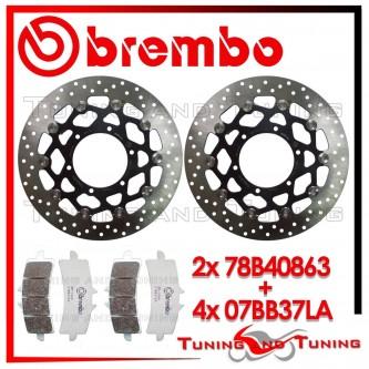 Dischi E Pastiglie Freno Anteriore Brembo SUZUKI GSX-R 600 2011 2012 78B40863 + 07BB37LA