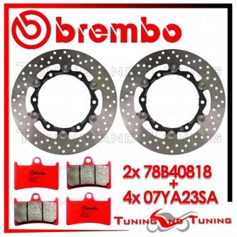 Dischi E Pastiglie Freno Anteriore Brembo YAMAHA T-MAX 500 2008 2009 78B40818 + 07YA23SA