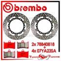 Dischi E Pastiglie Freno Anteriore Brembo YAMAHA T-MAX 500 ABS 2010 2011 78B40818 + 07YA23SA