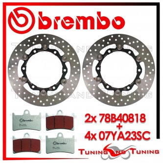 Dischi E Pastiglie Freno Anteriore Brembo YAMAHA T-MAX 500 2008 2009 78B40818 + 07YA23SC