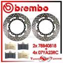 Dischi E Pastiglie Freno Anteriore Brembo YAMAHA T-MAX 500 ABS 2010 2011 78B40818 + 07YA23RC