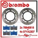 Dischi E Pastiglie Freno Anteriore Brembo YAMAHA T-MAX 500 ABS 2010 2011 78B40818 + 07YA2307