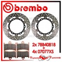 Dischi E Pastiglie Freno Anteriore Brembo YAMAHA T-MAX 500 ABS 2010 2011 78B40818 + 07077XS