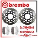 Dischi E Pastiglie Freno Anteriore Brembo SUZUKI GSX-R 750 2011 2012 2013 78B40863 + 07BB37LA