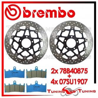 Dischi E Pastiglie Freno Anteriore Brembo SUZUKI GSX-R 1000 2001 2002 78B40875 + 07SU1907