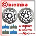 Dischi E Pastiglie Freno Anteriore Brembo SUZUKI GSX-R HAYABUSA 1400 1999 2000 78B40875 + 07SU1907
