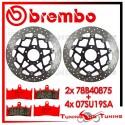 Dischi E Pastiglie Freno Anteriore Brembo SUZUKI GSX-R 750 1996 1997 78B40875 + 07SU19SA