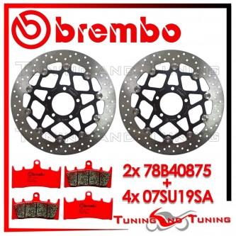Dischi E Pastiglie Freno Anteriore Brembo SUZUKI GSX-R 1000 2001 2002 78B40875 + 07SU19SA