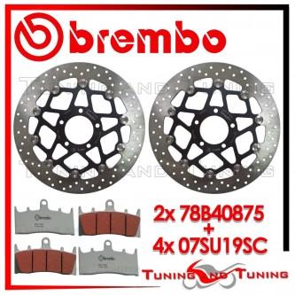 Dischi E Pastiglie Freno Anteriore Brembo SUZUKI GSX-R 750 1996 1997 78B40875 + 07SU19SC