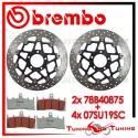 Dischi E Pastiglie Freno Anteriore Brembo SUZUKI GSX-R 1000 2001 2002 78B40875 + 07SU19SC