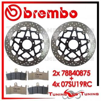 Dischi E Pastiglie Freno Anteriore Brembo SUZUKI GSX-R 750 1996 1997 78B40875 + 07SU19RC