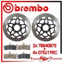 Dischi E Pastiglie Freno Anteriore Brembo SUZUKI GSX-R 1000 2001 2002 78B40875 + 07SU19RC