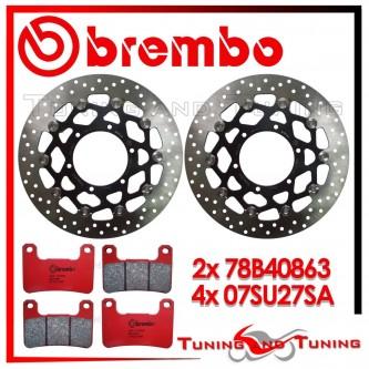Dischi E Pastiglie Freno Anteriore Brembo SUZUKI GSX-R 600 2008 2009 2010 78B40863 + 07SU27SA