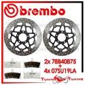 Dischi E Pastiglie Freno Anteriore Brembo SUZUKI GSX-R 750 1996 1997 78B40875 + 07SU19LA