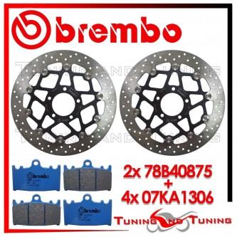 Dischi E Pastiglie Freno Anteriore Brembo SUZUKI GSX-R 600 1997 1998 1999 78B40875 + 07KA1306