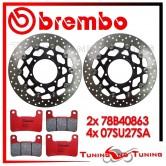 Dischi E Pastiglie Freno Anteriore Brembo SUZUKI GSX-R 1000 2009 2010 2011 78B40863 + 07SU27SA