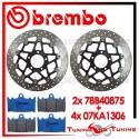 Dischi E Pastiglie Freno Anteriore Brembo SUZUKI GSX-R 750 2000 2001 78B40875 + 07KA1306