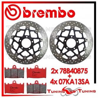 Dischi E Pastiglie Freno Anteriore Brembo SUZUKI GSX R 600 1997 1998 78B40875 + 07KA13SA