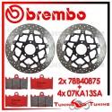 Dischi E Pastiglie Freno Anteriore Brembo SUZUKI GSX-R 750 2002 2003 78B40875 + 07KA13SA