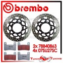 Dischi E Pastiglie Freno Anteriore Brembo SUZUKI GSX-R 600 2008 2009 2010 78B40863 + 07SU27SC