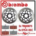 Dischi E Pastiglie Freno Anteriore Brembo SUZUKI GSX-R 600 1997 1998 1999 78B40875 + 07KA13SC
