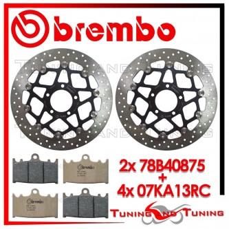 Dischi E Pastiglie Freno Anteriore Brembo SUZUKI GSX-R 600 1997 1998 78B40875 + 07KA13RC