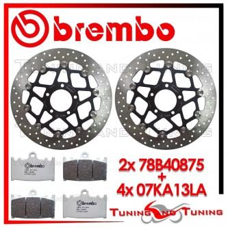 Dischi E Pastiglie Freno Anteriore Brembo SUZUKI GSX-R 750 2000 2001 78B40875 + 07KA13LA