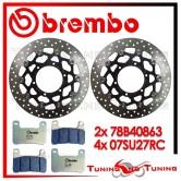Dischi E Pastiglie Freno Anteriore Brembo SUZUKI GSX-R 600 2008 2009 78B40863 + 07SU27RC