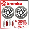 Dischi E Pastiglie Freno Anteriore Brembo KAWASAKI Z 750 2004 2005 2006 78B40841 + 07KA18SC + 07KA19SC