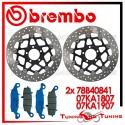 Dischi E Pastiglie Freno Anteriore Brembo KAWASAKI ZR7 750 2002 2003 78B40841 + 07KA1807 + 07KA1907