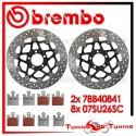 Dischi E Pastiglie Freno Anteriore Brembo KAWASAKI ZX 12R NINJA 1200 2005 2006 78B40841 + 07SU26SC