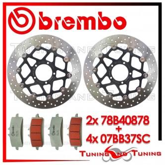 Dischi E Pastiglie Freno Anteriore Brembo DUCATI DIAVEL 1200 2011 2012 78B40878 + 07BB37SC